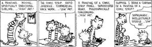 Calvin and Hobbes painting, posted on the obsessive imagist